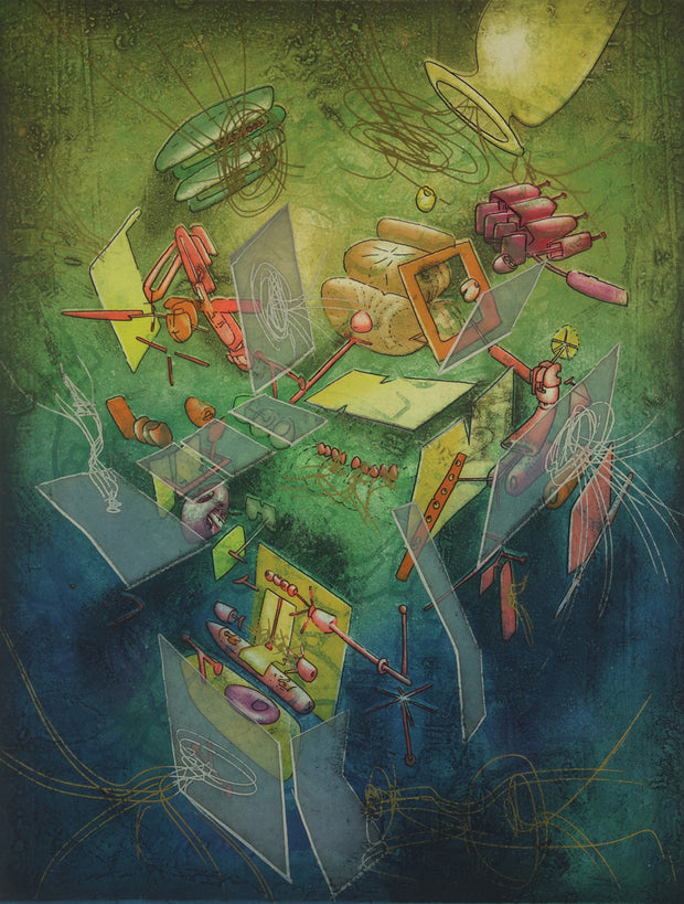 Oeuvre L'Instant (Work The Moment) by Roberto Matta - Davidson Galleries
