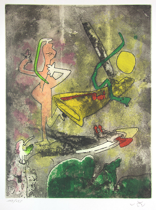 From Centre Noeuds, Plate 3 by Roberto Matta - Davidson Galleries