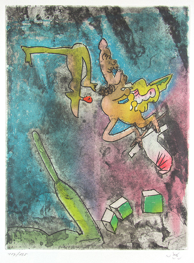 From Centre Noeuds, Plate 7 by Roberto Matta - Davidson Galleries