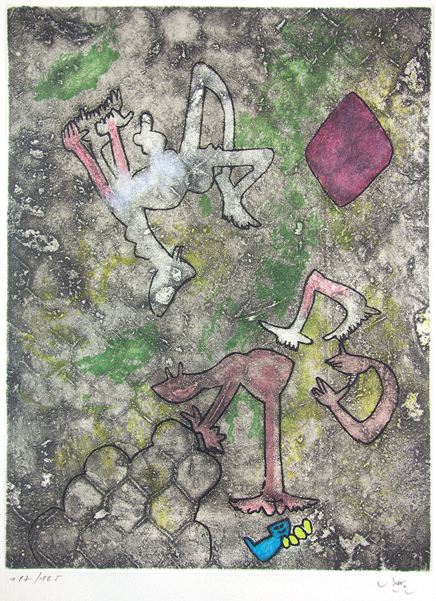 From Centre Noeuds, Plate 2 by Roberto Matta - Davidson Galleries
