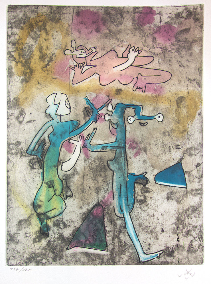 From Centre Noeuds, Plate 8 by Roberto Matta - Davidson Galleries