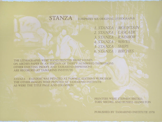 Stanza (Set of 6 lithographs) by James McGarrell - Davidson Galleries