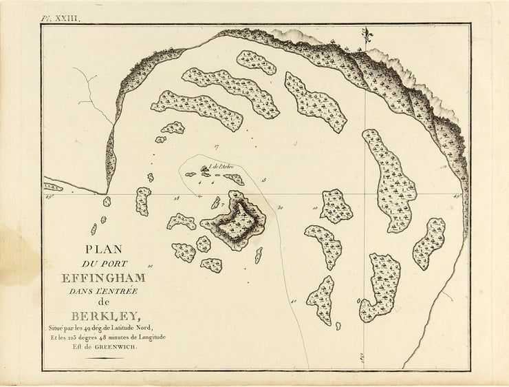 Plan Du Port Effingham Dans L'Entrée De Berkley by Maps, Views, and Charts - Davidson Galleries