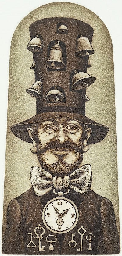 The Clock Man (Ex Libris) by Peter Melan - Davidson Galleries