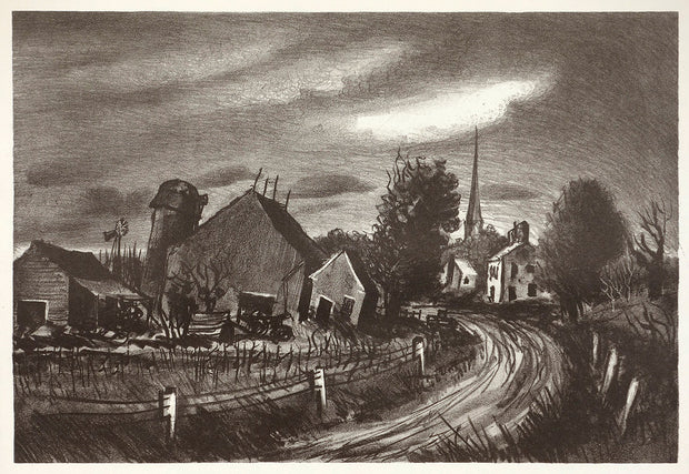 Village Road by John C. Menihan - Davidson Galleries