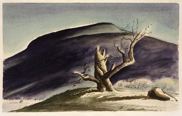 Tree with Gray Mountain by John C. Menihan - Davidson Galleries