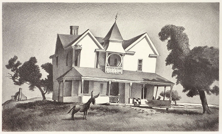 Old House with Donkey by John C. Menihan - Davidson Galleries