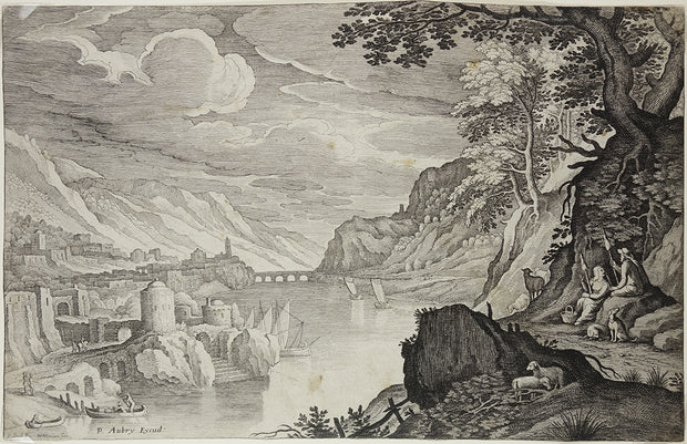 Italian Landscape by Matthaus Merian - Davidson Galleries