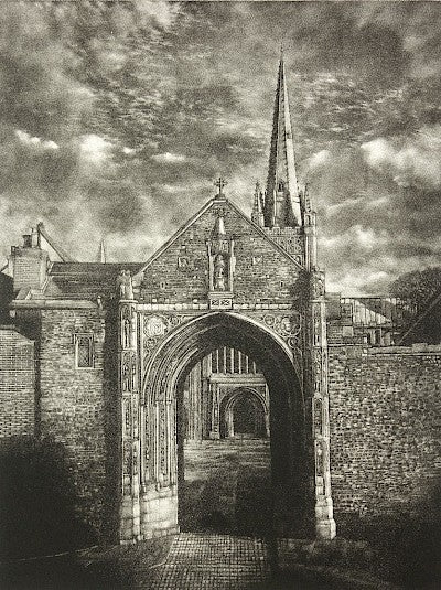 The Erpingham Gate (Norwich Cathedral) by Martin Mitchell - Davidson Galleries