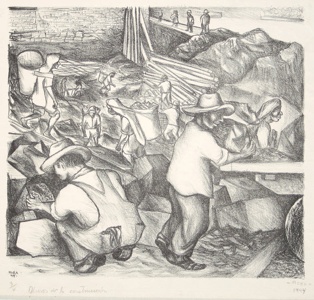 Obreros De La Construcción (Construction Laborers) by Francisco Mora - Davidson Galleries