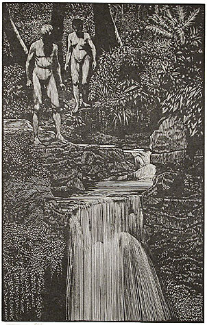Adam and Eve in the Garden of Eden by Barry Moser - Davidson Galleries