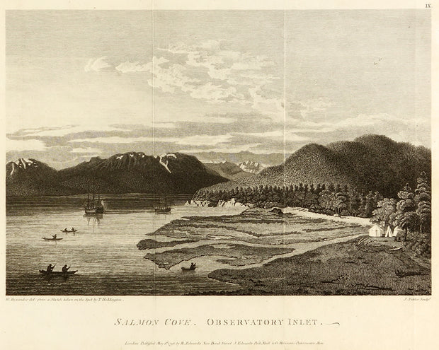 Salmon Cove. Observatory Inslet by Maps, Views, and Charts - Davidson Galleries