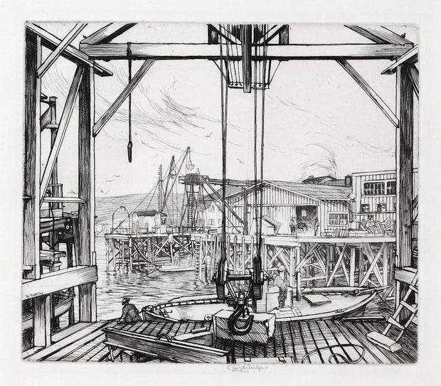 Docks by George Roy (Roi) Partridge - Davidson Galleries