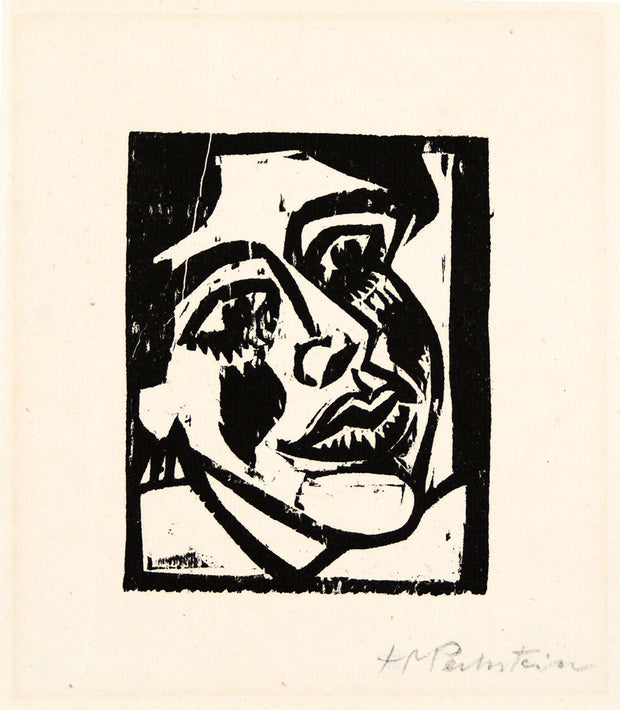 Weiblicher Kopf (Female Head) by Max Hermann Pechstein - Davidson Galleries