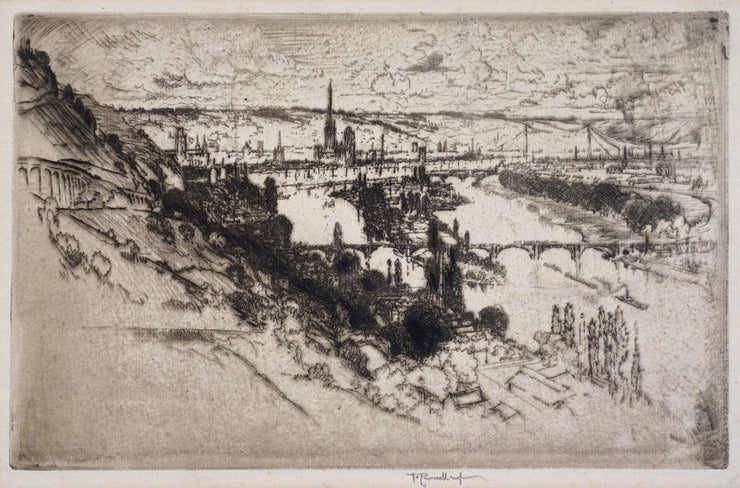 Rouen, from Bon Secours by Joseph Pennell - Davidson Galleries