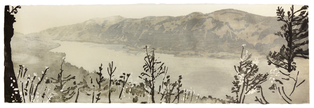Columbia River in the Afternoon (grey tones) by Eva Pietzcker - Davidson Galleries