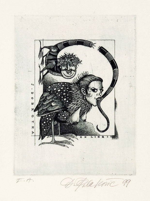 Ex Libris for J. Dobrotka by Dusan Polakovic - Davidson Galleries