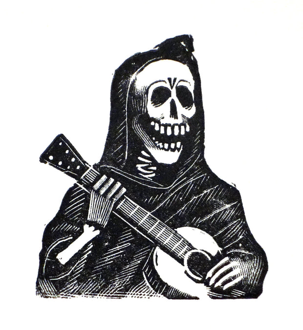 Calavera Con Guitara by José Guadalupe Posada - Davidson Galleries
