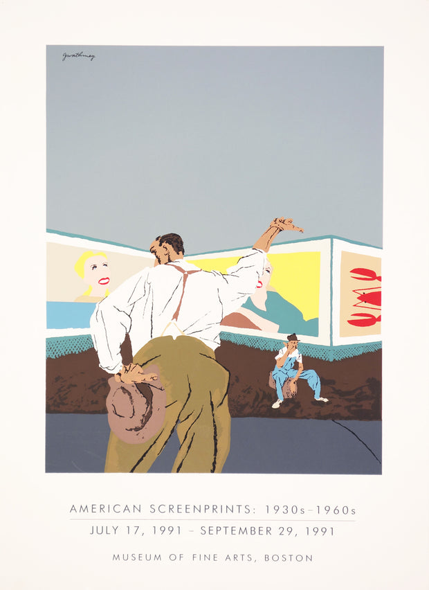 Poster for American Screenprints Exhibition by Artist Unidentified - Davidson Galleries