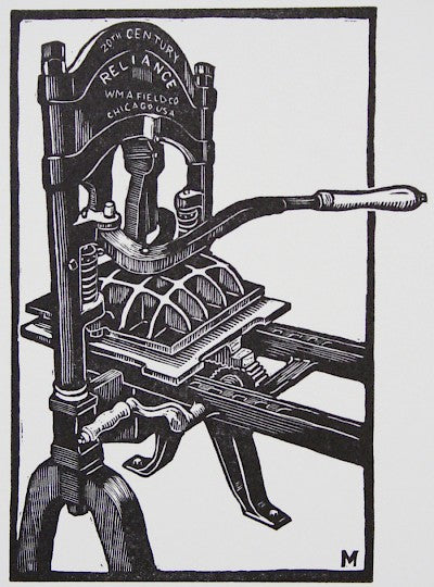 Printing Press by Carl V. Montford - Davidson Galleries
