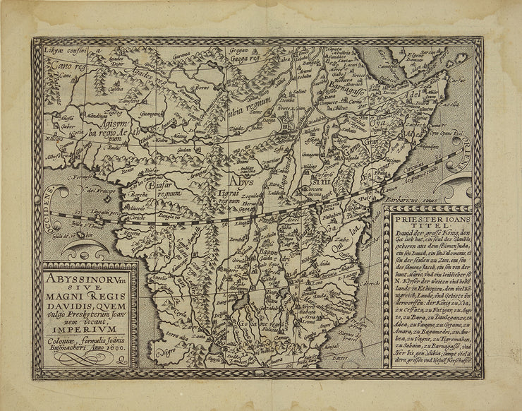 Abyssinorum Sive Magni Regis Davidis ... (Early Map of Africa) by Maps, Views, and Charts - Davidson Galleries