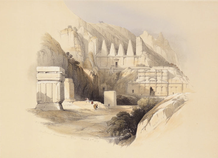 The Necropolis, Petra by David Roberts - Davidson Galleries