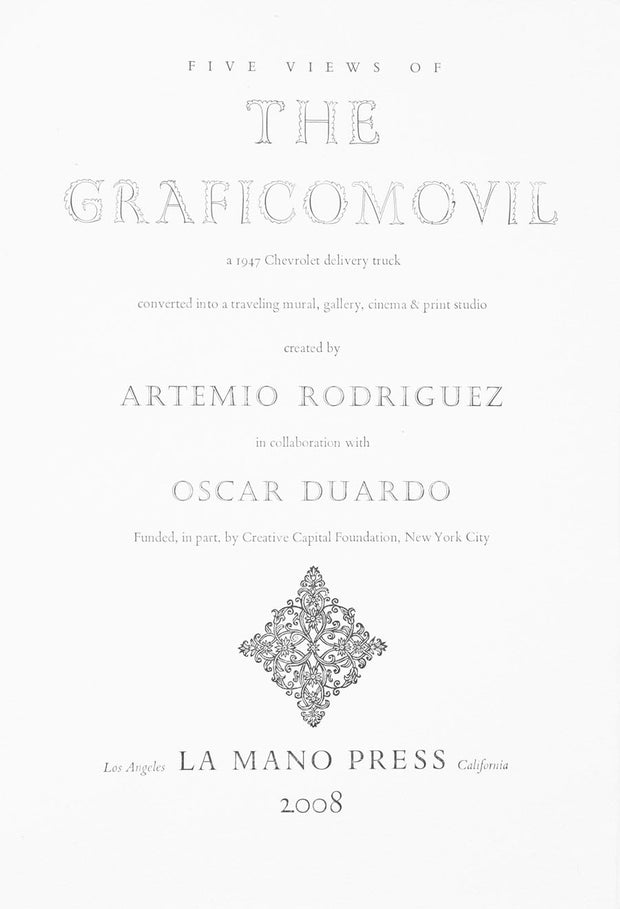 Five Views of the Graficomovil (Portfolio of 5 linocuts) by Artemio Rodriguez - Davidson Galleries