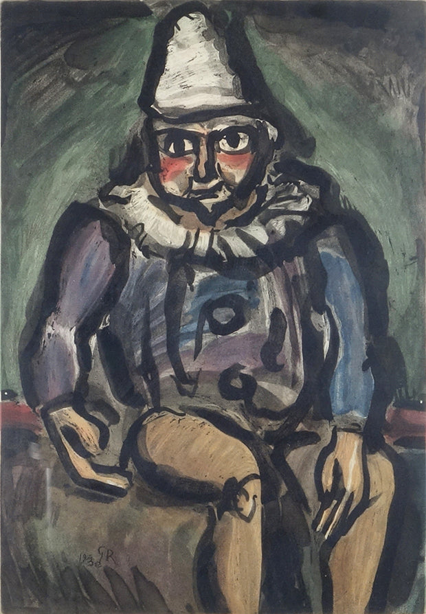 Clown assis (Seated Clown) by Georges Rouault - Davidson Galleries