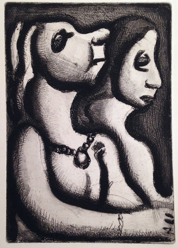 Deux femmes en profil by Georges Rouault - Davidson Galleries