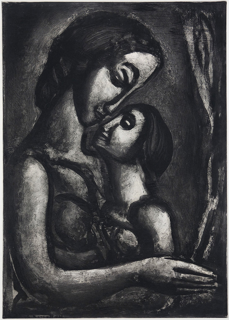 Plate 13. Il serait si doux d'aimer. (To love would be so sweet.) by Georges Rouault - Davidson Galleries