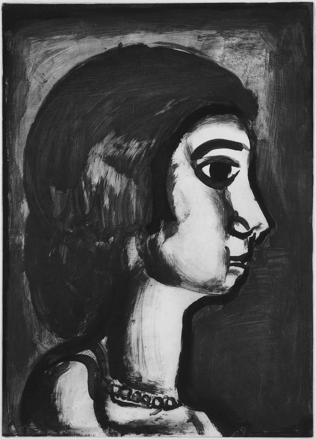 Plate 14. Fille dite de joie. (So-called good-time girl.) by Georges Rouault - Davidson Galleries