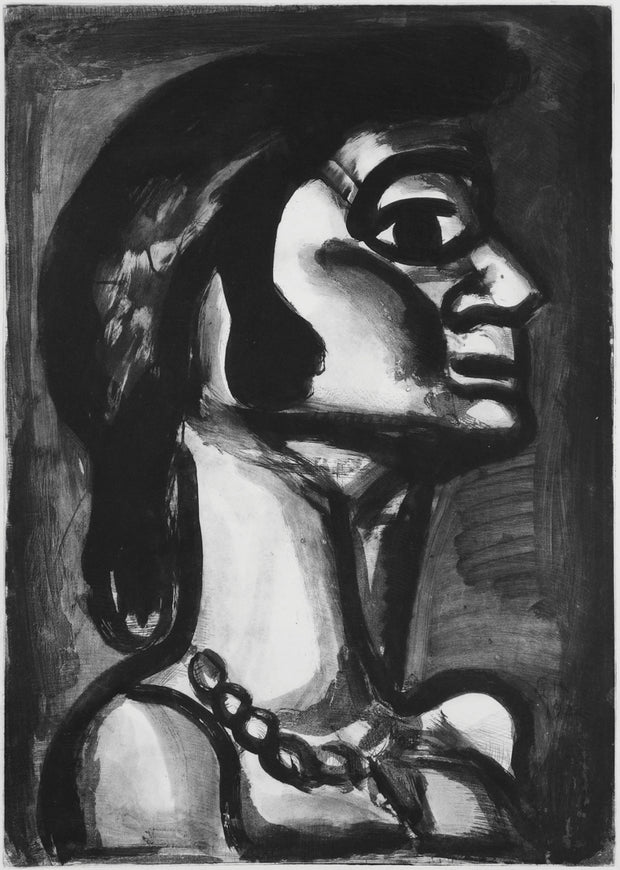 Plate 15. En bouche qui ut fraîche, goût de fiel. (In the mouth that was sweet, the taste of gall.) by Georges Rouault - Davidson Galleries