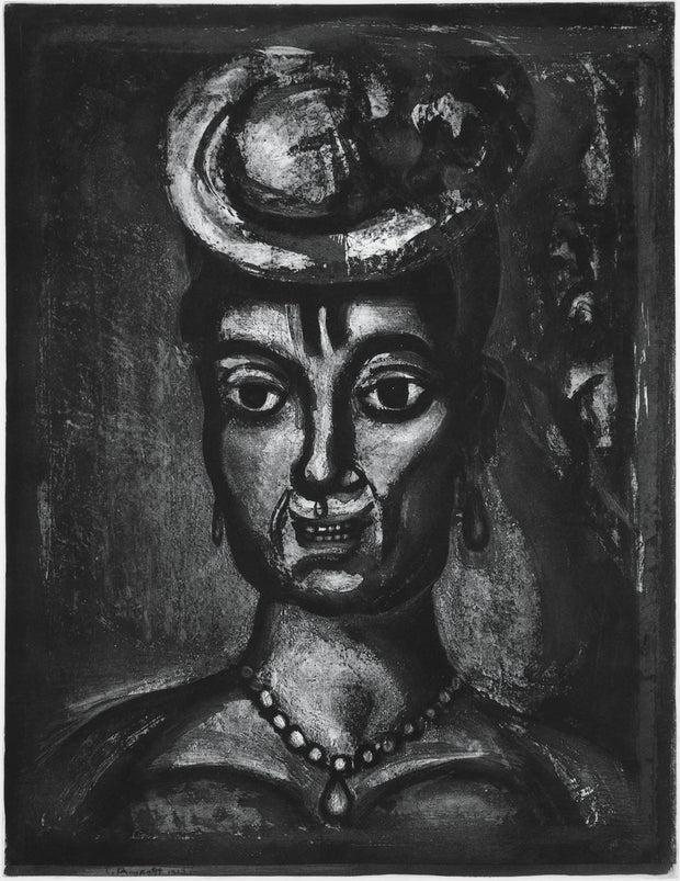 Plate 17. Femme affranchie, á quatorze heures, chante midi. (Emancipated woman, at two o'clock, cries noon.) by Georges Rouault - Davidson Galleries