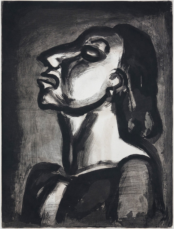 Plate 19. Son avocat, en phrases creuses, clame sa totale inconscience... (His lawyer, in hollow phrases, proclaims his complete indifference...) by Georges Rouault - Davidson Galleries
