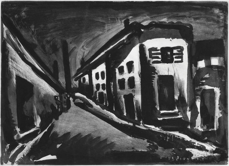 Plate 23. Rue des solitaires. (Lonely street.) by Georges Rouault - Davidson Galleries