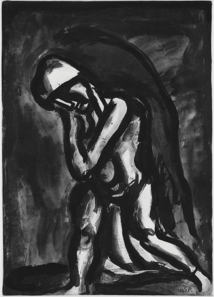 Plate 24. Hiver lépre de la terre. (Winter, scourge of the earth.) by Georges Rouault - Davidson Galleries