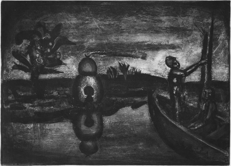 Plate 26. Au pays de la soif et de la peur. (In the land of thirst and fear.) by Georges Rouault - Davidson Galleries