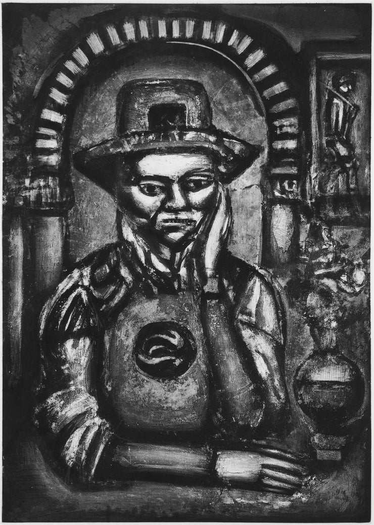 Plate 38. Chinois inventa, dit-on, la poudre á canon, nous en fit don. (The Chinese, they say, invented gunpowder, and made us a gift of it.) by Georges Rouault - Davidson Galleries