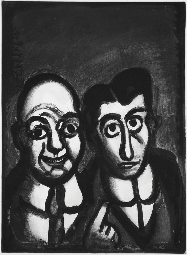 Plate 39. Nous sommes fous. (We are mad). by Georges Rouault - Davidson Galleries