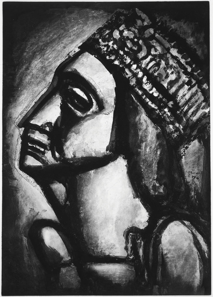 Plate 53. Vierge aux sept glaives. (Our lady of the seven sorrows.) by Georges Rouault - Davidson Galleries