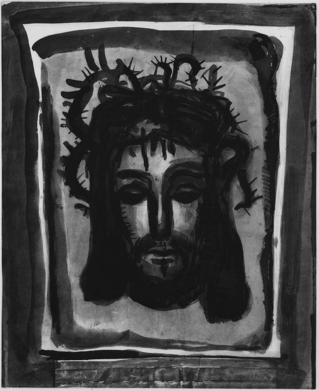 Plate 58. C'est par ses meurtrissures que nous sommes guéris. (Is 53:5) (It is by his wounds that we are healed.) by Georges Rouault - Davidson Galleries