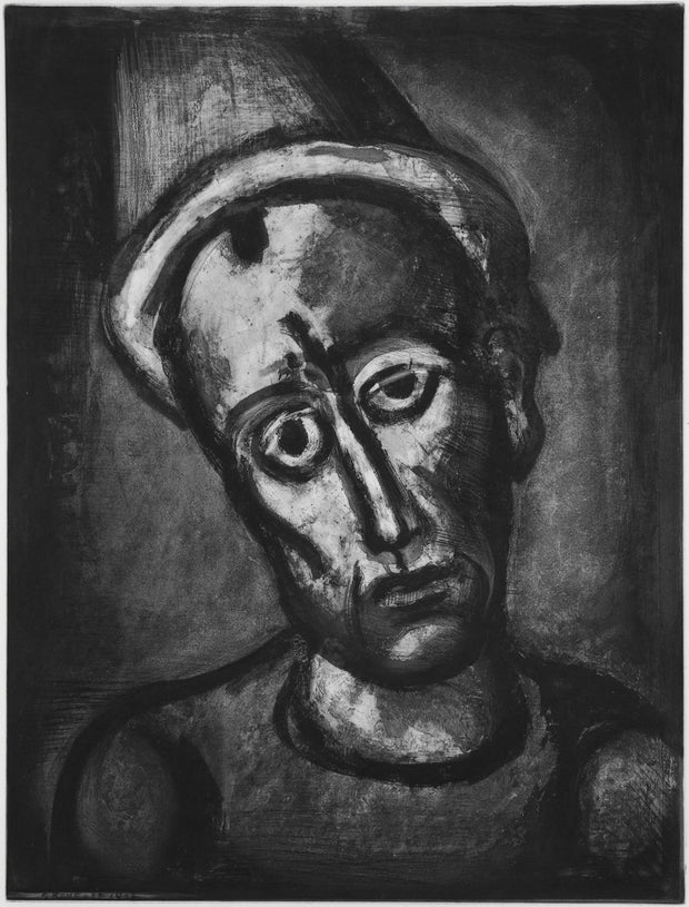 Plate 8. Qui ne se grime pas? (Who does not wear a mask?) by Georges Rouault - Davidson Galleries