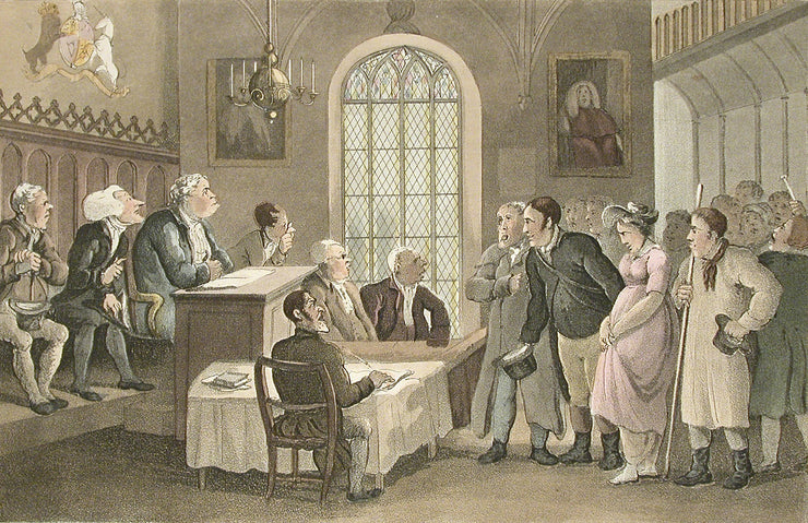 Doctor Syntax in a Court of Justice by Thomas Rowlandson - Davidson Galleries