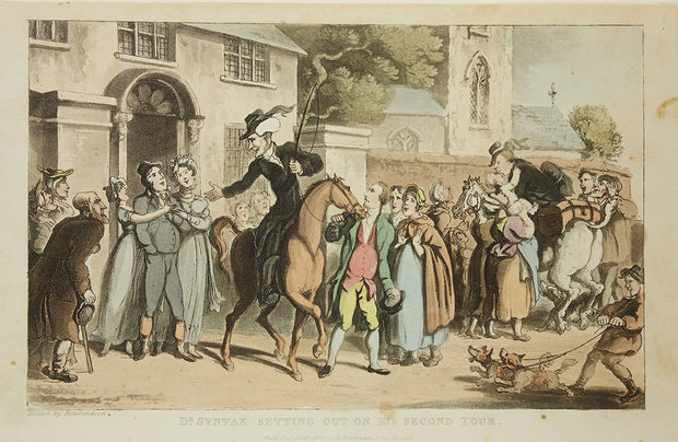 Dr. Syntax Setting Out On His Second Tour by Thomas Rowlandson - Davidson Galleries
