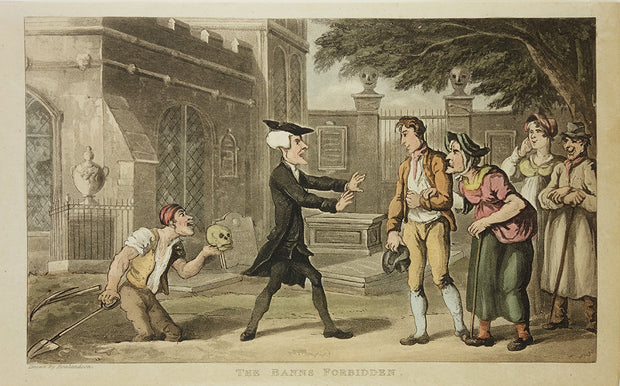Dr. Syntax The Banns Forbidden by Thomas Rowlandson - Davidson Galleries
