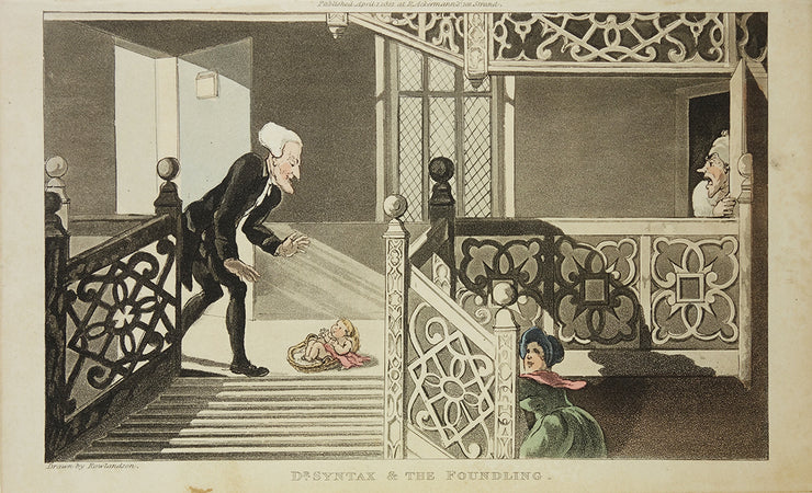 Dr. Syntax & the Foundling by Thomas Rowlandson - Davidson Galleries