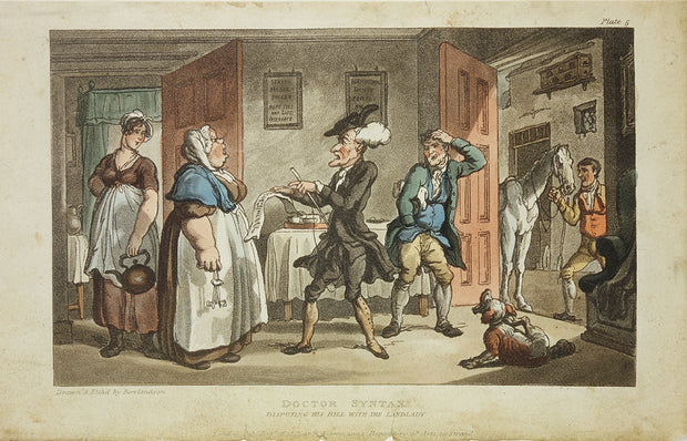 Dr. Syntax Disputing his Bill by Thomas Rowlandson - Davidson Galleries