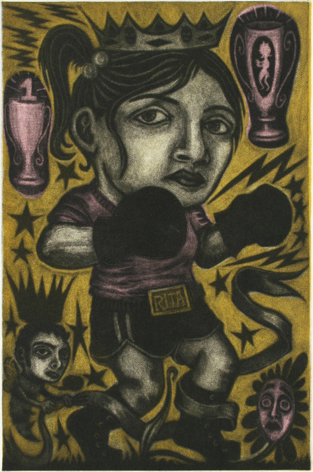 Rita Jo Catskills, Lady Boxer by Jenny Schmid - Davidson Galleries