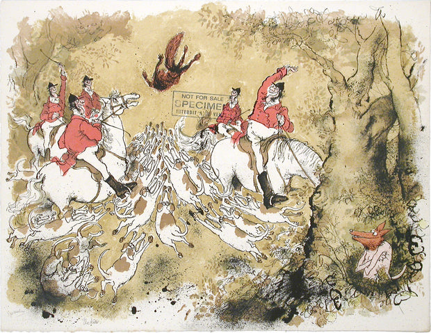The Kill by Ronald Searle - Davidson Galleries