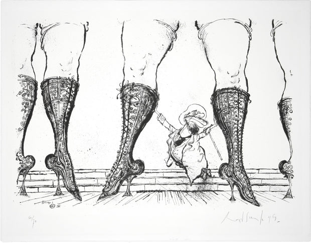 Hommage à Toulouse-Lautrec by Ronald Searle - Davidson Galleries